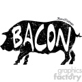 distressed pig bacon vector art design