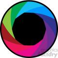 vector camera shutter colorful flat design aperture icon