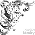 vintage distressed vintage wood corner carving ornament GF vector design vintage 1900 vector art GF