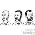 mens hair styles 1900 4 vintage 1900 vector art gf  gif, png, jpg, eps, svg, pdf