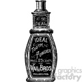 vintage distressed vintage tooth powder bottle GF vector design vintage 1900 vector art GF