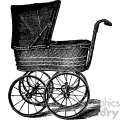 vintage child carriage vector vintage 1900 vector art GF