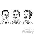 mens hair styles 1900s vintage 1900 vector art gf  gif, png, jpg, eps, svg, pdf