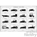 vintage distressed automobiles vector design vintage 1900 vector art GF