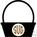 monogram easter basket svg cut file