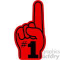 number one imprinted foam hand vector cut file