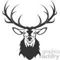 deer head vector art