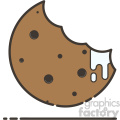 Cookie flat vector icon design