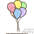 Balloons flat vector icon design