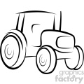 tractor vector outline