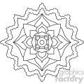 mandala geometric vector design 007
