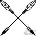 arrows crossed vector design 01