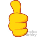 10688 royalty free rf clipart yellow cartoon hand giving thumbs up gesture vector illustration  gif, png, jpg, eps, svg, pdf