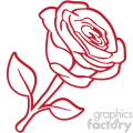red rose svg cut file
