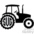 tractor svg initials monogram cut file