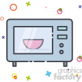 Microwave vector clip art images