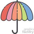 Umbrella vector clip art images