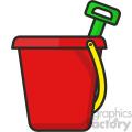 Beach bucket clip art vector images