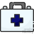 First aid kit clip art vector images