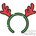reindeer antlers vector icon