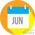 june calendar vector icon