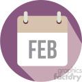 february calendar vector icon