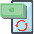 mobile device commerce vector icon