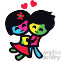 love sticker characters girl and boy