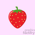 Royalty Free RF Clipart Illustration Strawberry Fruit Cartoon Drawing Flat Design Vector Illustration Over Blue Background