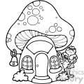 cartoon clipart toad school 001 bw