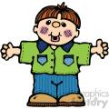 small boy vector cartoon clipart