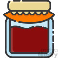 jelly jar vector royalty free icon art