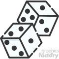 dice vector royalty free art