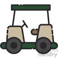 golf cart vector art
