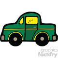 green car cartoon