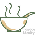 bowl soup food vector flat icon design
