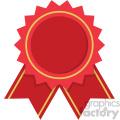 award ribbon vector flat icon