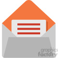mail vector flat icon