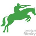 hunting on horseback vector art