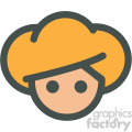 avatar with blond hair vector icons
