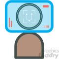 facial recognition vector icon
