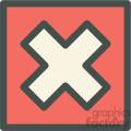 red box x checked box vector icon