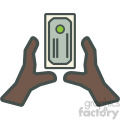 african american hands grabbing money vector icon