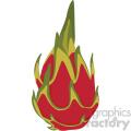 dragon fruit flat icon clip art