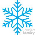 blue snowflake vector rf clip art