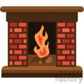 fireplace no background