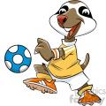 cartoon sloth soccer player