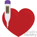 heart with thermometer no background