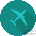 commercial airplane aqua circle icon