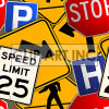 Street sign tiled background